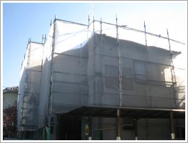 横浜の仮設工事