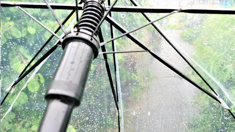 雨の日の足場